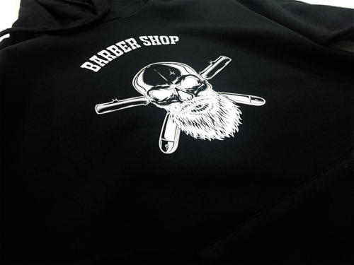 Sweat com capuz personalizada Barber Shop