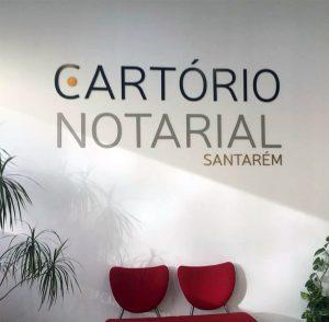 Lettering em 3D para Cartório Notarial
