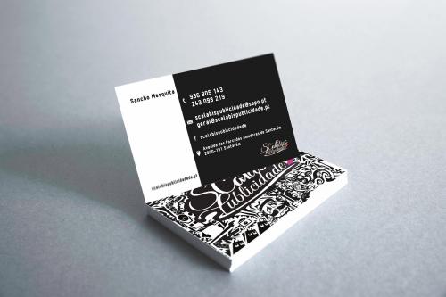 Cartões de Negócio Personalizados para a Scalabis Publicidade