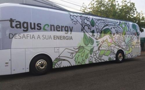 Decoração de Lateral de Viatura para a Tagus Energy