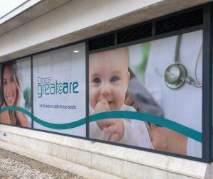Decoração de Montra para Clinica Greatcare