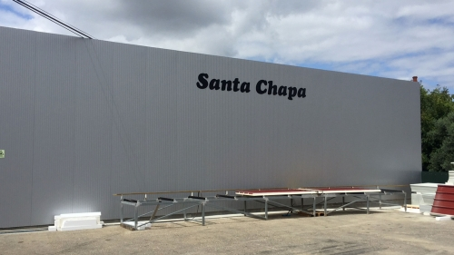 Lettering 3D em aluminio para a Santa Chapa