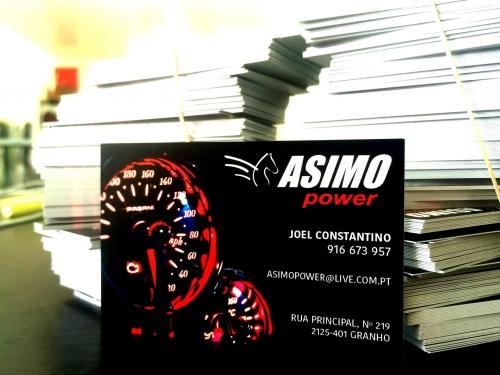 Cartões de Negócio Personalizados para a Asimo Power