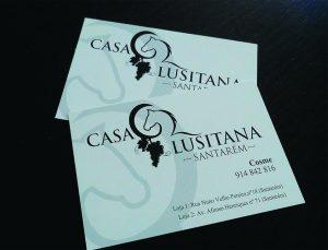 Cartões de Negócio Personalizados para a Casa Lusitana