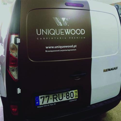 Decoração de viatura Para a Unique Wood - Traseira